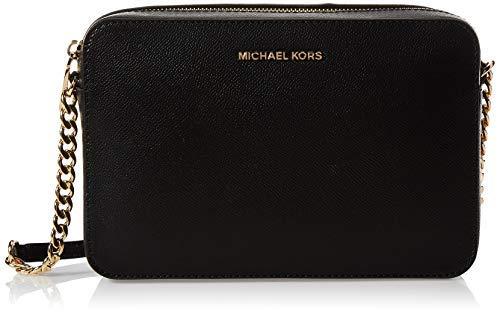 Michael Kors Crossbodies, Bolso Bandolera para Mujer, Negro (Black), 1.9x10.2x22.9 cm (W x H x L)