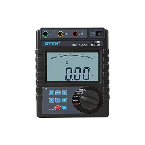 YUXIwang Multímetro Digital Instrumento preciso multímetro Digital ETCR3000 0~600 V Resistencia de Tierra Digital probador del medidor eléctrico