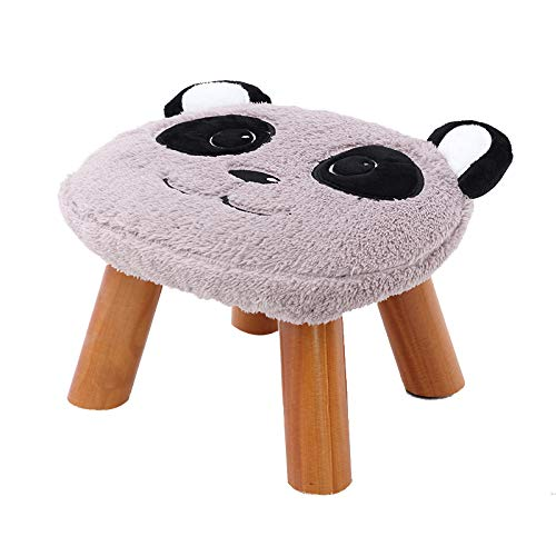 AACJJ Kleine kruk, massief hout cartoon creatieve stof voor kinderen salontafel kruk, Voetstoel, huis kleine stoel, bank bank, schoenenbank
