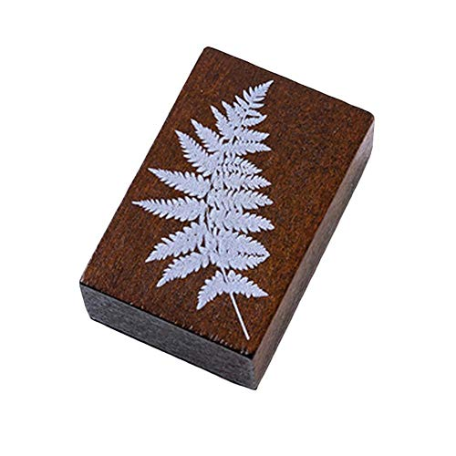 CAOLATOR Scrapbooking Stempel Pflanze Schwarzer Farn Holz DIY Holz Gummi Stempel Gummistempel Stempelset Ornamente für Scrapbooking Handwerk