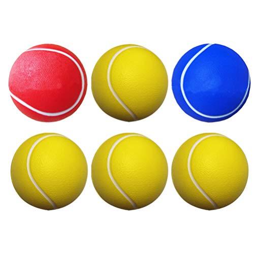NUOBESTY 6 stks Foam Tennis Ballen PU Foam Bal Speelgoed Tennis Praktijk Ballen Sport Bal Speelgoed Kids Party Game…