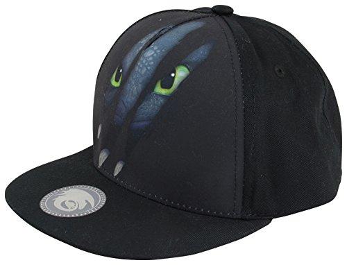 Dragons DreamWorks Ohnezahn Toothless Krallen Snapback (verstellbar) Kinder Basecap, Schwarz