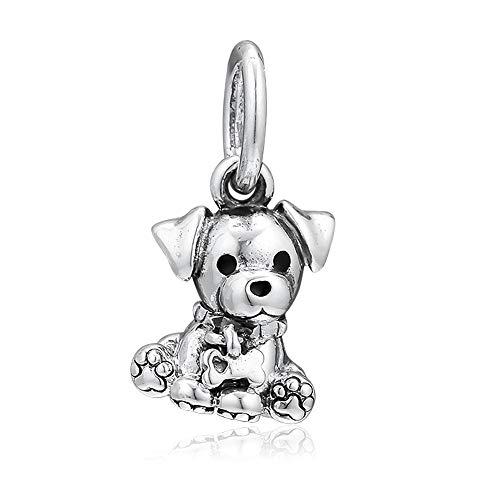 PANDOCCI 2019 Regalo per la Festa della Mamma Labrador Puppy Dangle Bead Argento 925 Fai da Te Adatto per bracciali Pandora Originali Fascino Gioielli di Moda