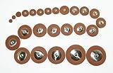 Cherrystone Lot de 25 Tampons de rechange pour Saxophone Alto
