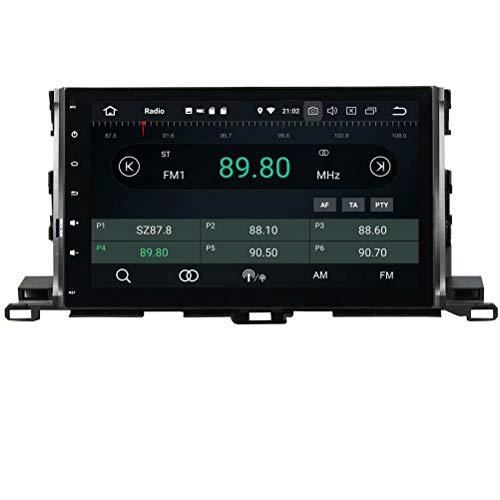 ROADYAKO Unité Principale pour Toyota Highlander 2015 2016 2017 Android 8.1 Autoradio Stéréo avec Navigation GPS 3G WiFi Lien de Miroir RDS FM AM Bluetooth