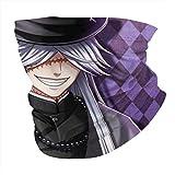 SVDziAeo Helmet Magic,Quick Dry Bandana,Unisex Face Shield,Bandelet,Soft Handscarf,Outdoor Headbands,Seamless Headwear,Black Butler-Undertaker