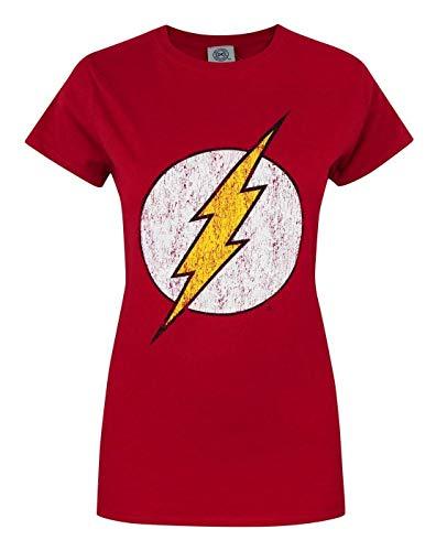 DC Comics Offical Flash Distressed Logo Women