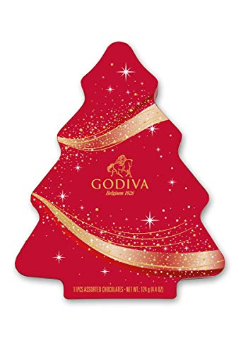 Godiva Chocolate Christmas 2020 Tree Gift Box, 184.3 g
