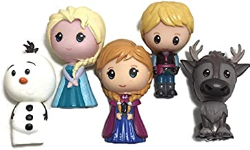 Disney Frozen LARGE Vinyl Figures Set of 5 - Elsa, Anna, Kristoff, Olaf and Sven
