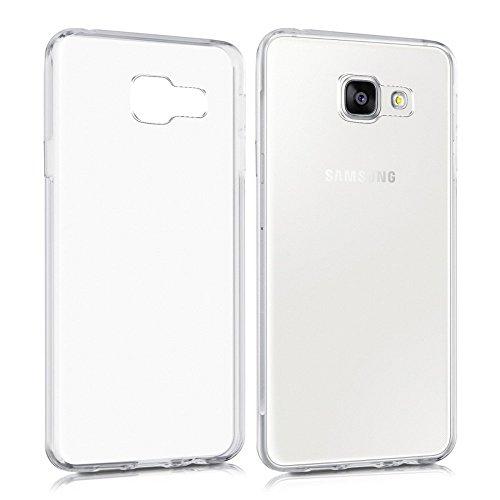 REY Funda Carcasa Gel Transparente para Samsung Galaxy A3 2016, Ultra Fina 0,33mm, Silicona TPU de Alta Resistencia y Flexibilidad