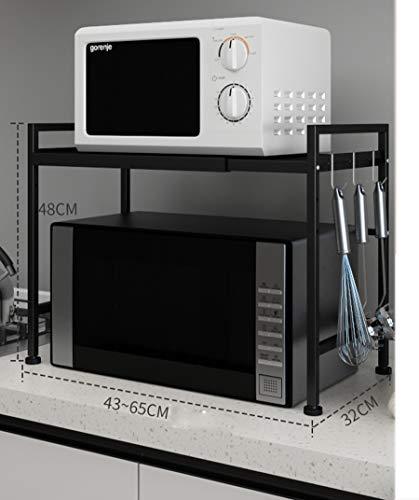Support télescopique multifonction/cuisine/étagère pour four à micro-ondes, couleur: A