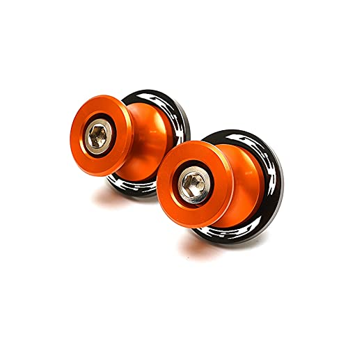 Accesorios para Motocicletas para Suzuki GSR400 GSR600 GSR750 GSR 400 600 750 GSX GSX-R 600 750 1000 8mm Motorbike CNC CNC Sworkar Spools Slider Stand Tornillos de Soporte (Color : S Orange)