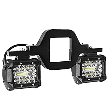 LED Work Light Pods,EBESTauto 4 Inch LED Light Bar with 2.5 Inch Towing Hitch Mount Brackets LED Bar for Truck Trailer SUV Pickup Fit Dual Led Off-Road Driving Light bar FedEx,UPS
