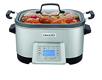 Crock-Pot 6-Quart 5-in-1 Multi-Cooker with Non-Stick Inner Pot Stainless Steel