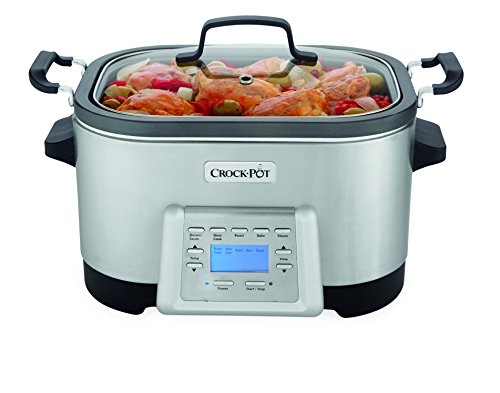 Crock-Pot 6-Quart 5-in-1 Multi-Cooker with Non-Stick Inner Pot, Stainless Steel, SCCPMC600-S