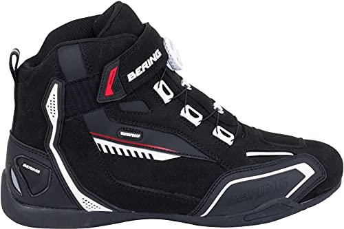 Bering Walter - Zapatos impermeables para moto, color negro, talla 44