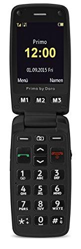 Doro 360019 2.4' 115g Negro - Teléfono móvil (Concha, SIM única, 6,1 cm (2.4'), 2 MP, 1050 mAh, Negro)