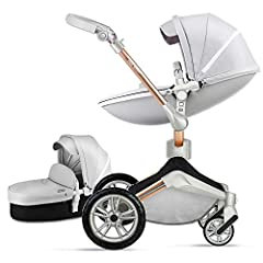 【360°ROTATION FUNCTION】 - The robust stroller frame can rotate 360°so that the pushchair attachments can be adjusted faster in both directions with one click.you can enjoy the mobility, flexibility and get the chance to discover the world with your b...