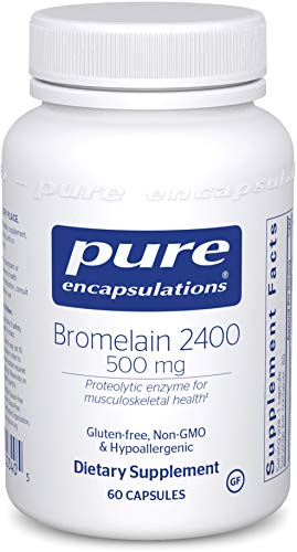 Pure Encapsulations Bromelain 2400 | 500 mg Supplement for Immune and Digestive Support, Enzymes, Joints, Muscle Recovery, and Bone Health* | 60 Capsules
