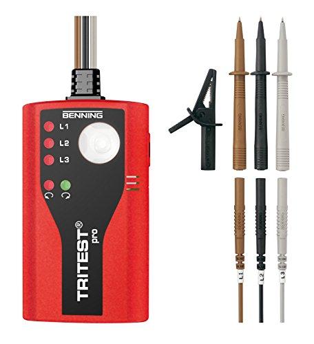 Benning 020052 Tritest pro Phasendrehungsanzeiger, rot / schwarz