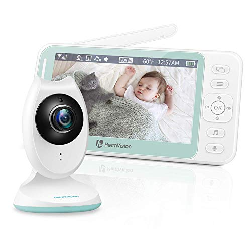 HeimVision Babyphone mit Kamera, 4,3'' LCD Babyphone Video Baby Monitor mit Nachtsicht, Baby Überwachung mit Gegensprechfunktion, Temperaturüberwachung, Schlaflieder