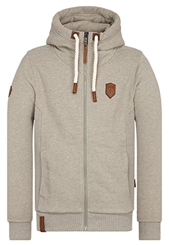 Naketano Male Zipped Jacket Birol Gravierend Melange, S