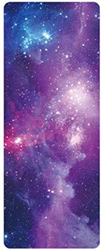 Estera de Yoga Estera de Yoga Antideslizante Confort Suede Pretty Starry Sky Impreso Plegable Almohadilla de Goma Natural para Ejercicio Yoga y Pilates Mujer