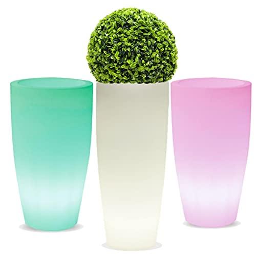 La Vida en Led Pot de fleurs lumineux LED RVB rechargeable