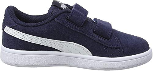 Puma Unisex-Kinder Smash v2 SD V PS Zapatillas, Blau (Peacoat White), 31 EU