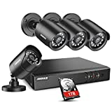 ANNKE 8CH H.265+ 5MP Lite Surveillance Camera System with 4pcs 1920TVL Wired CCTV Cameras, IP66 Weatherproof for Indoor Outdoor use, Motion Alert Remote Access, 1TB Hard Drive Included-Y200