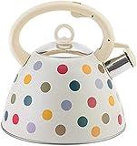 LTOOTA 3L Whistling Tea Wash Retro, Bollitore per Flauto A Induzione per Caldaie Ad Insabbiamento Bollitore in Acciaio Inox Gas Stufa A Gas E Induzione Universale per Stufa