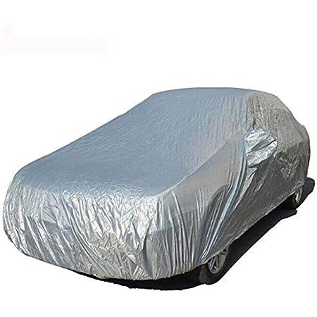 Shiwaki Wetterfeste Auto Abdeckung Silberfarben Pkw Abdeckplane Auto Ganzgarage Schutzhülle Plane Autohülle Uv Schutz Autogarage Autohaube S Auto