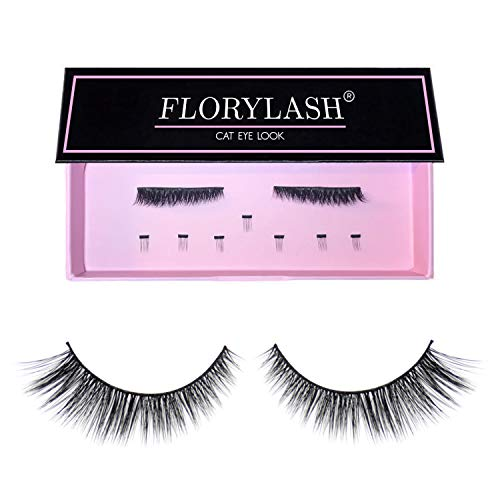 FLORYLASH® | Cat Eye Look - Magnetische Wimpern 3 Magnete Natürlich Magnetic Fake Lashes ohne...