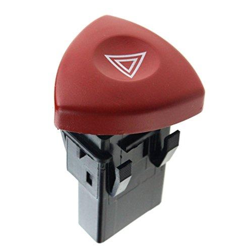 non-brand Universal Warnblinkschalter Zugschalter Rot Knopf für Traktor Anhänger Auto