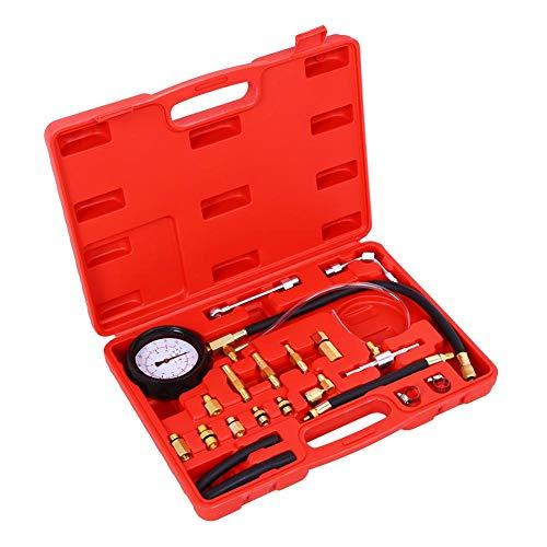 Öldruckmesser, 0-145 PSI Druckprüfer Öldruckprüfer Benzindruckprüfer Einspritzanlage Benzindruck Tester Druckprüfer Öldrucktester für Benzin- und Dieselkraftstoffpumpen