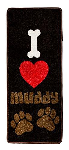 "Pet Rebellion ""I Love Muddy Paws""-Fußmatte, 45x 100cm"