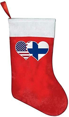 Surce American Finland vlag Heart Red Santa Holiday sokken druk & Pluche Ball Tree Holiday Party Decor