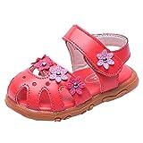 Cuteelf Kinder Mädchen Blume Tasche Zehenfuß Perle Prinzessin Schuhe einzelne Schuhe Sandalen...