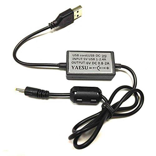 Ctzrzyt Cargador de Cable USB para Yaesu Radio vx-1r vx-2r vx-3r Radio usb-21
