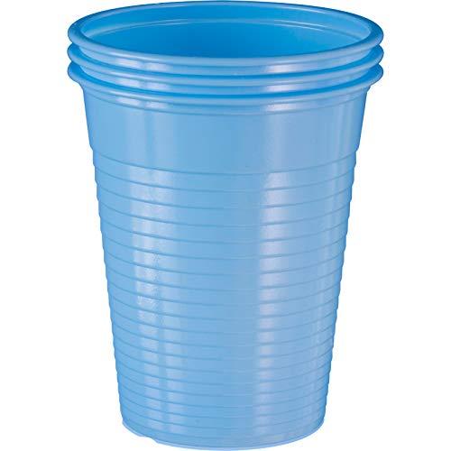 wellsamed 144983 100 Stück Einwegbecher Hellblau Plastikbecher Trinkbecher Becher Kunststoff Einweg 0,18 Liter