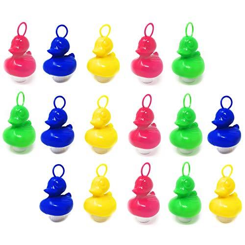 DDS Enten Angeln Pool Wasserspielzeug - Angelspiel Enten mit Öse und Gewicht | Kinder Spielzeug Entenangeln für Angeln mit Haken | Angel Wasserspiel für Beschäftigung - 16 Enten Bunt im Set