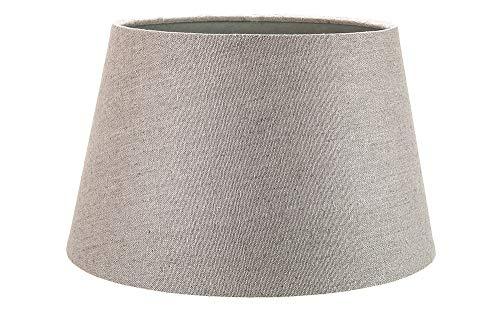 Lampara Clásica de Mesa/Colgante de Tambor de Tela de Lino Gris de 10 Pulgadas de 60w Máximo por Happy Homewares