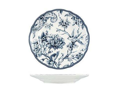 H&H Adelaide Set Piatti Frutta, Porcellana, Bianco/Blu, 6 unità