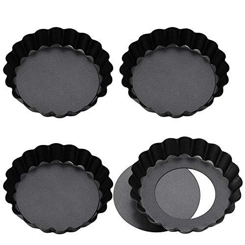 Opopark 4 Piezas Quiche Tart Pan,Moldes para Quiche Moldes p