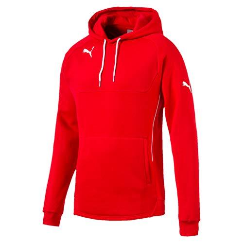 PUMA Sweatshirt Hoody - Sudadera de fútbol para hombre, color rojo / blanco, talla 2XL