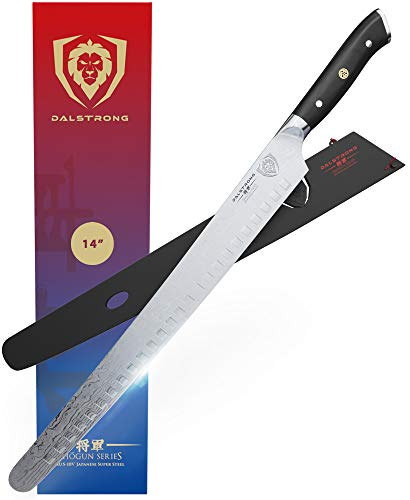 """DALSTRONG Slicing & Carving Knife - 14"""" - Extra Long Slicer - Shogun Series - Japanese AUS-10V Super Steel - Vacuum Treated - Sheath Included"""