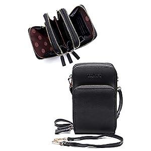 merry prank ポシェット 改良幅広タイプ レディース お財布ポシェット ショルダーバッグ (ブラック)