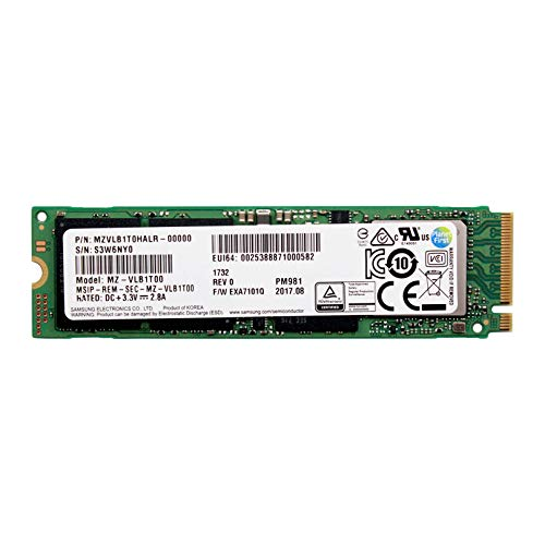 Samsung PM981 Solid State Drive (SSD) M.2 1000 GB PCI Express 3.0 TLC NVMe - Interne Solid State Drives (SSD) (1000 GB, M.2, 3200 MB/s)