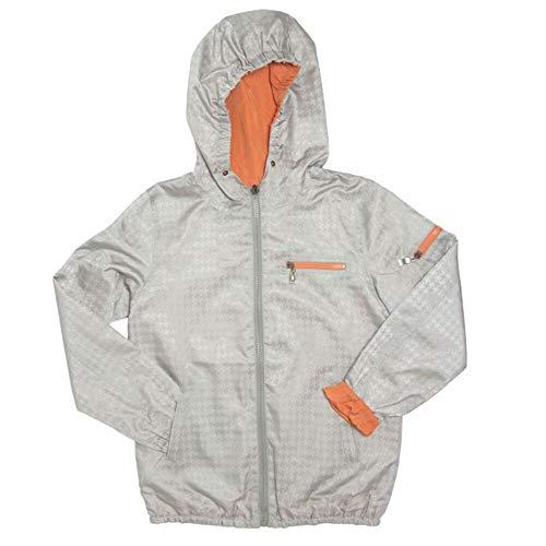 Frenchie Mini Couture Silver/Orange Reversible Rain Jacket (18 Months, Orange)