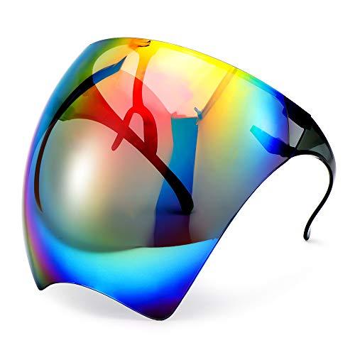 Gafas antivaho, protección facial, protección UV, gafas de sol, gafas de protección completa de la cara, máscara de protección para hombre y mujer, en transparente/multicolor